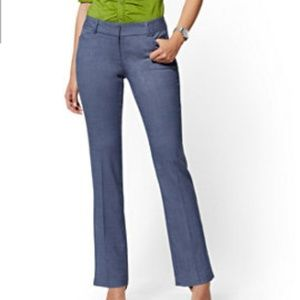 New York & Co Bootcut Dress Pant Blue Gray